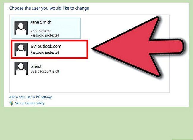Prent getiteld Maak `n gebruikers rekening `n administrateur in Windows 8 Stap 9
