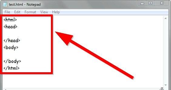 Prent getiteld Skep vet teks met HTML Stap 2