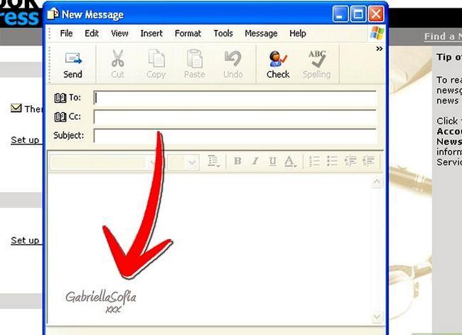 Prent getiteld Skep `n handtekening met prente in Outlook Express in Windows Vista Stap 11