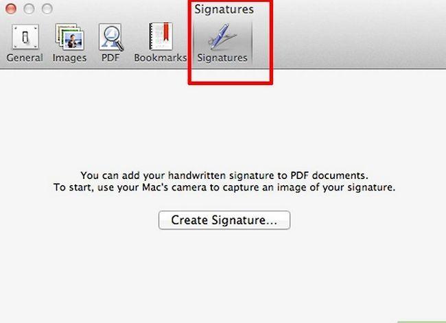 Prent getiteld Skep `n handtekening van `n ingeboude in Mac OS X Lion Step 3