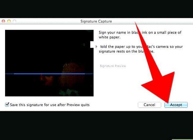 Prent getiteld Skep `n handtekening van `n ingeboude in Mac OS X Lion Step 5