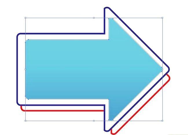 Prent getiteld Skep `n pyltjie op Adobe Illustrator Step 8