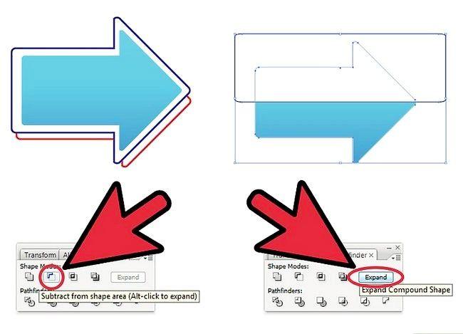 Prent getiteld Skep `n pyltjie op Adobe Illustrator Stap 9