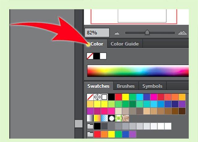Prent getiteld Skep `n Adobe Illustrator Swatch Stap 1Bullet1