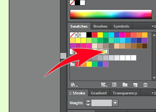 Prent getiteld Skep `n Adobe Illustrator Swatch Stap 3