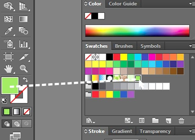 Prent getiteld Skep `n Adobe Illustrator Swatch Stap 4