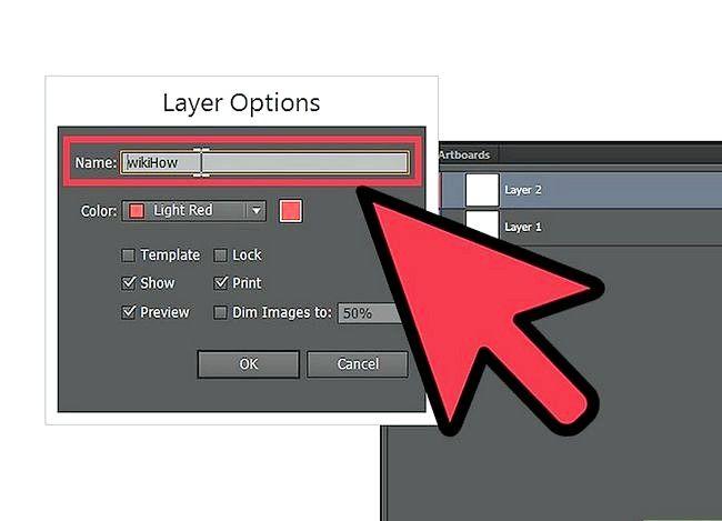 Prent getiteld Skep `n nuwe laag in Adobe Illustrator Step 2