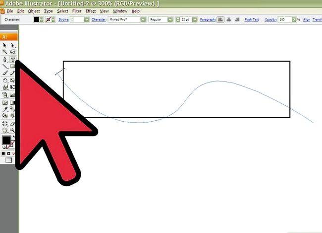 Prent getiteld Skep `n banier in Adobe Illustrator Stap 2
