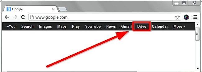 Prent getiteld Skep `n voorlegging deur Google Drive Stap 1 te gebruik