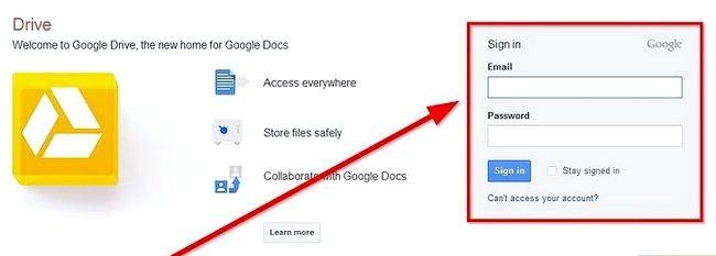 Prent getiteld Skep `n voorlegging deur Google Drive Stap 2 te gebruik