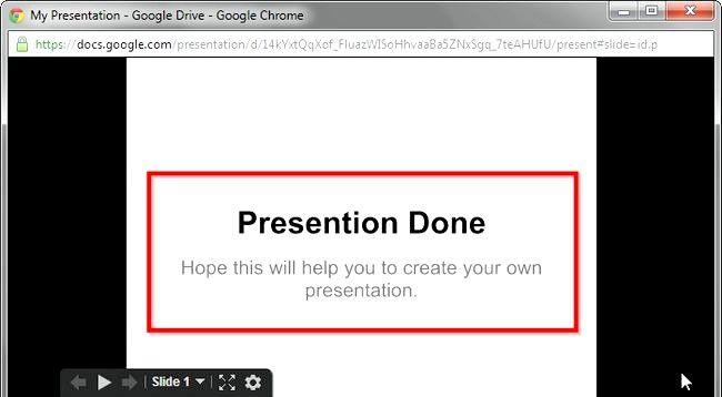 Prent getiteld Skep `n voorlegging deur Google Drive Stap 8 te gebruik