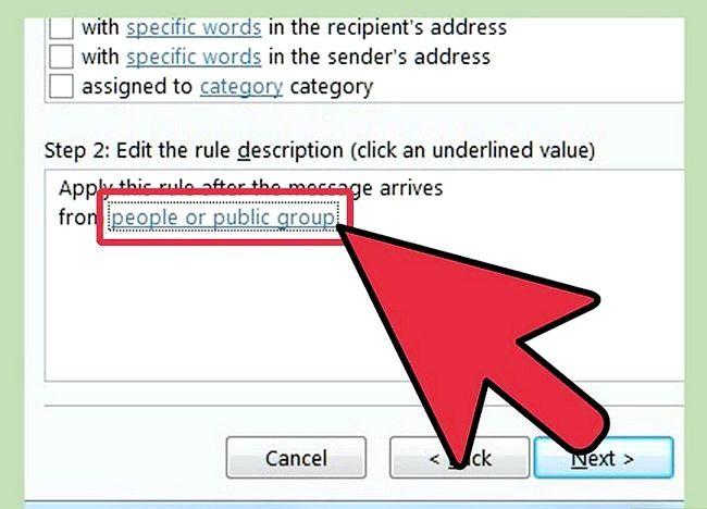 Prent getiteld Maak `n reël in Outlook om Mail Stap 13 te stuur