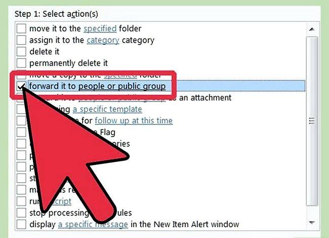 Prent getiteld Maak `n reël in Outlook om Mail Stap 24 te stuur