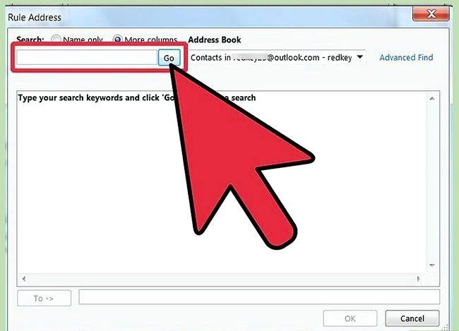 Prent getiteld Maak `n reël in Outlook om Mail Stap 26 te stuur