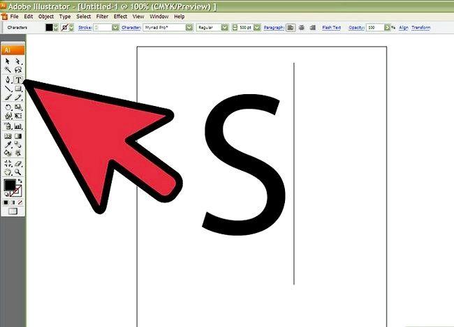 Prent getiteld Skep `n S in Adobe Illustrator Stap 1
