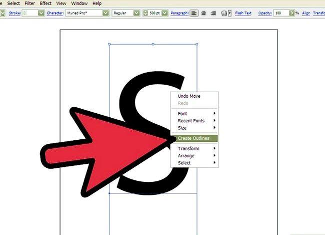 Prent getiteld Skep `n S in Adobe Illustrator Stap 3