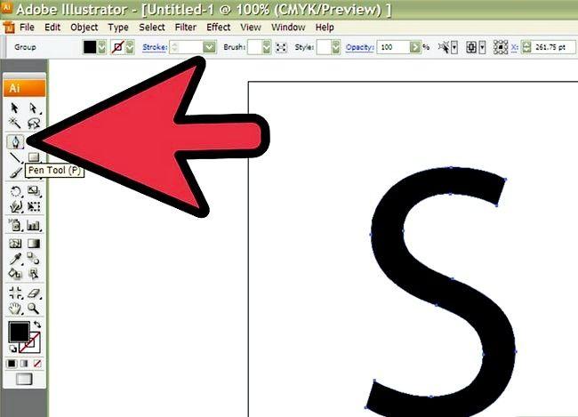 Prent getiteld Skep `n S in Adobe Illustrator Stap 4