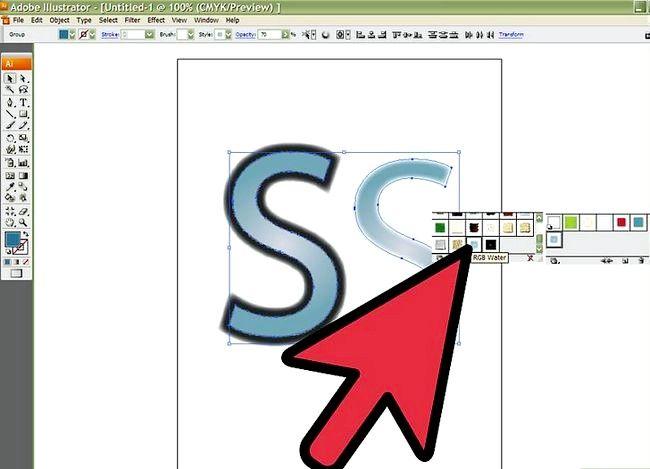 Prent getiteld Skep `n S in Adobe Illustrator Stap 6