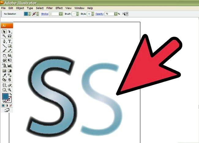 Prent getiteld Skep `n S in Adobe Illustrator Stap 7