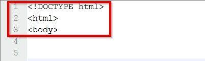 Prent getiteld Skep `n tabel in HTML-kode Stap 2