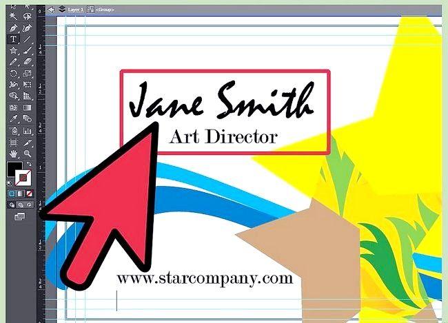 Prent getiteld Maak `n Besigheidskaart op Adobe Illustrator Stap 7