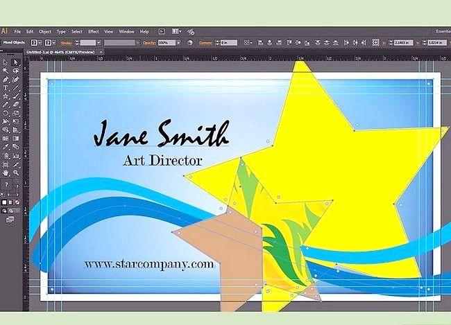 Prent getiteld Maak `n Besigheidskaart op Adobe Illustrator Stap 8