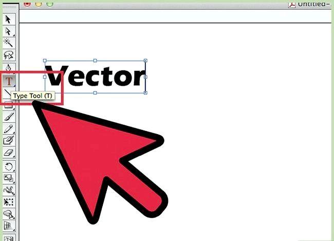 Prent getiteld Skep vektore in Adobe Illustrator Stap 1
