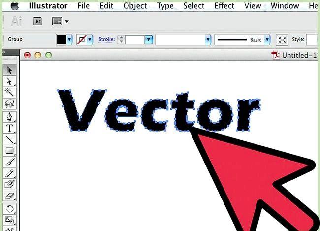Prent getiteld Skep vektore in Adobe Illustrator Stap 3