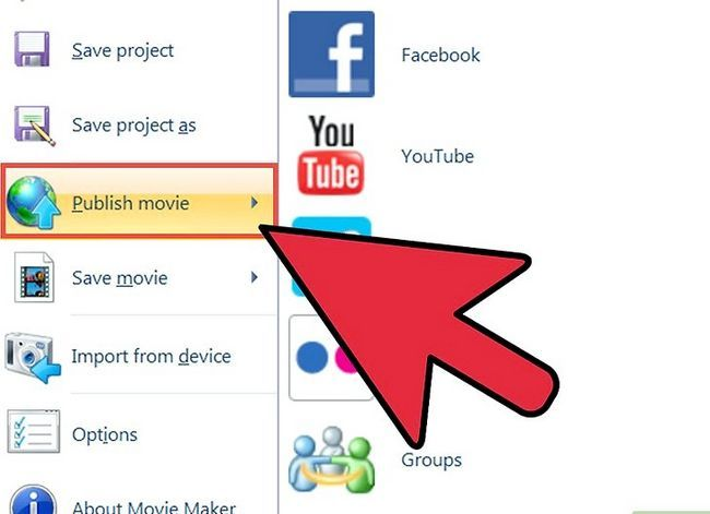 Prent getiteld `n video maak in Windows Movie Maker Stap 12