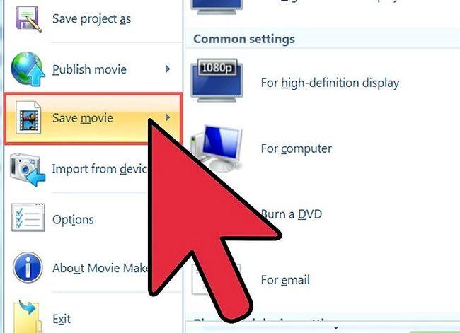 Prent getiteld `n video maak in Windows Movie Maker Stap 13