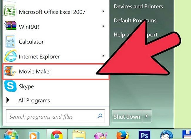 Prent getiteld `n video maak in Windows Movie Maker Stap 2