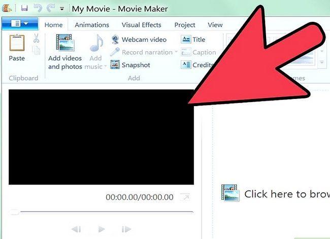 Prent getiteld `n video maak in Windows Movie Maker Stap 3