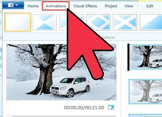 Prent getiteld `n video maak in Windows Movie Maker Stap 7