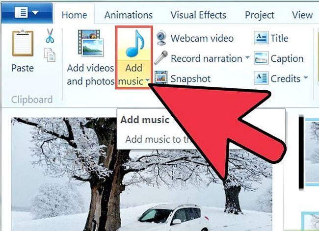 Prent getiteld `n video maak in Windows Movie Maker Stap 8