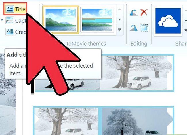 Prent getiteld `n video maak in Windows Movie Maker Stap 9