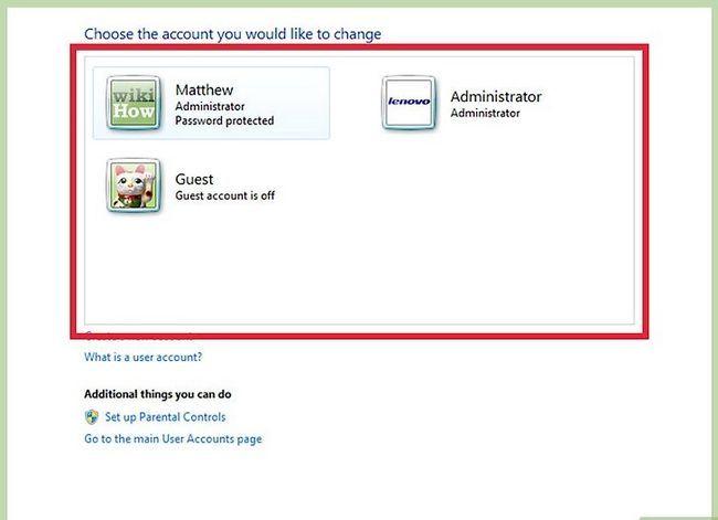 Prent getiteld Skep en bestuur `n verborge rekening in Windows 7 Stap 15