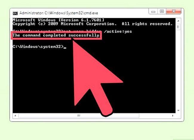 Prent getiteld Skep en bestuur `n verborge rekening in Windows 7 Stap 19