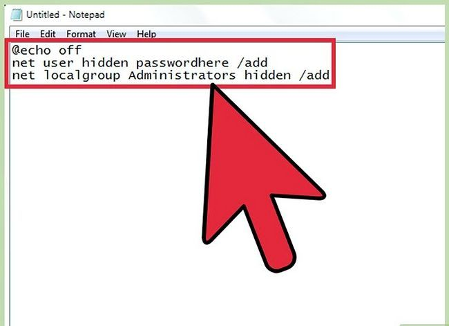Prent getiteld Skep en bestuur `n verborge rekening in Windows 7 Stap 2