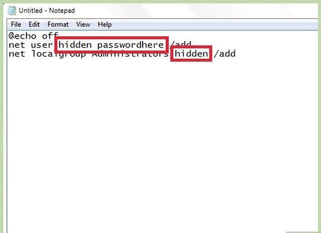 Prent getiteld Skep en bestuur `n verborge rekening in Windows 7 Stap 3