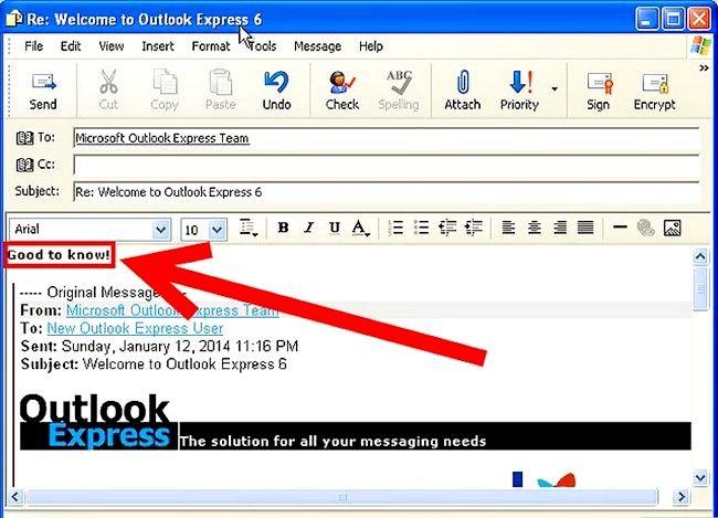 Prent getiteld Skep en stuur basiese e-pos met Outlook Express Stap 11