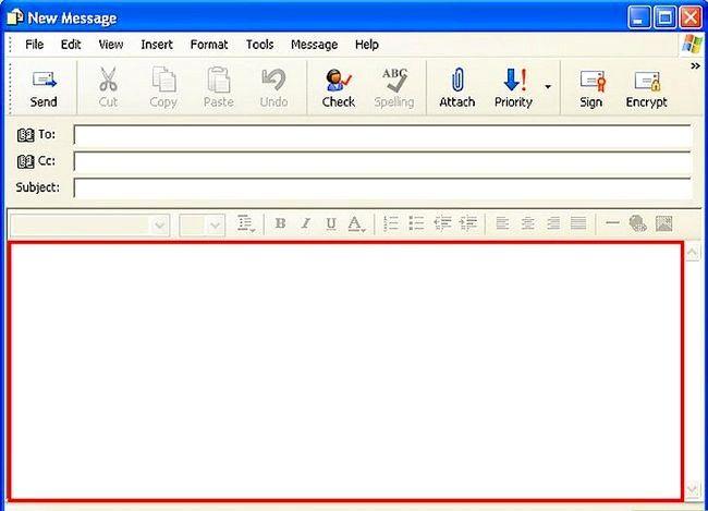 Prent getiteld Skep en stuur basiese e-pos met Outlook Express Stap 6
