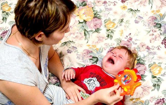 Prent getiteld Babysit moeilik om kinders te hanteer Stap 1
