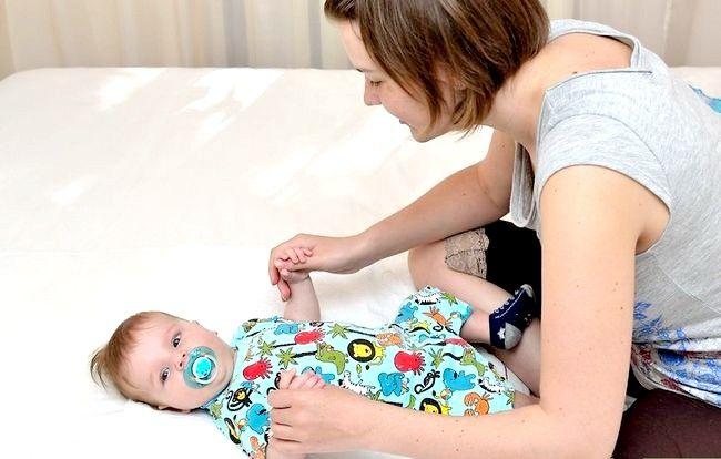 Prent getiteld Massage a Baby Step 4