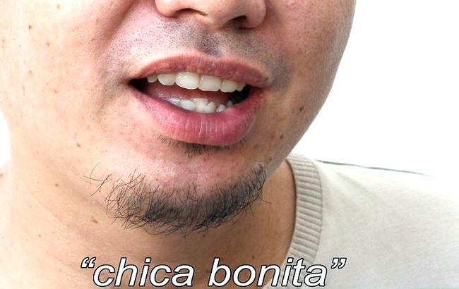 Prent getiteld Sê mooi meisie in Spaans Stap 2