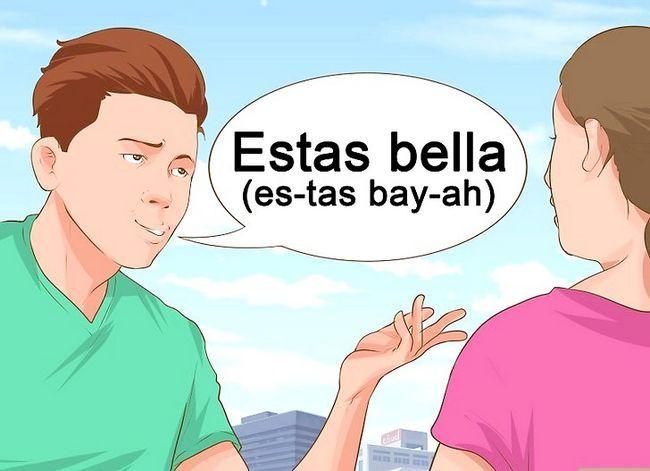 Prent getiteld Sê Mooi Vrou in Spaans Stap 2