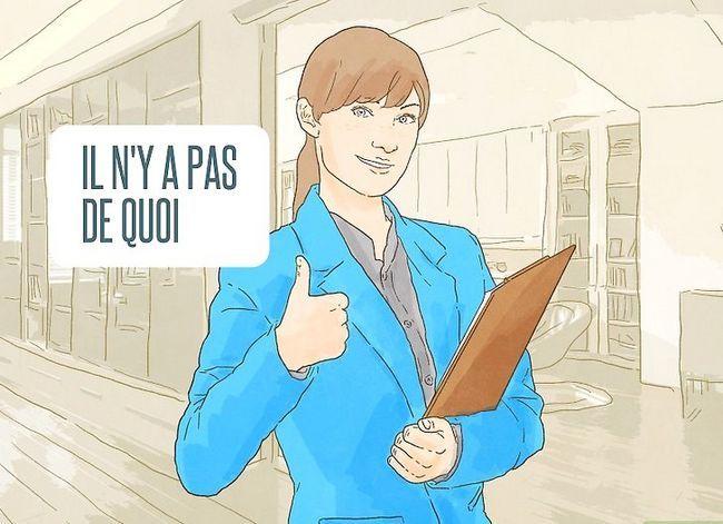 Prent getiteld Sê dankie in Frans Stap 14