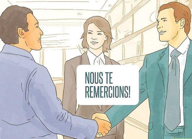 Prent getiteld Sê dankie in Frans Stap 8
