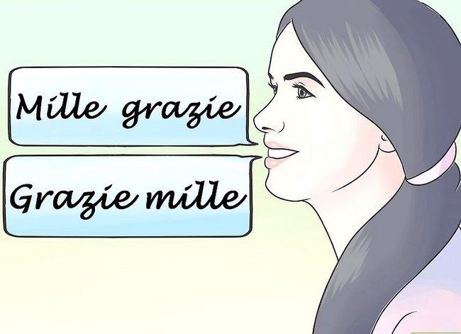 Prent getiteld Sê dankie in Italiaanse Stap 4