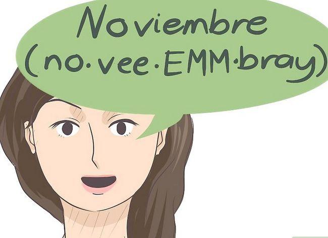 Prent getiteld Sê die kalendermaande in Spaans Stap 11