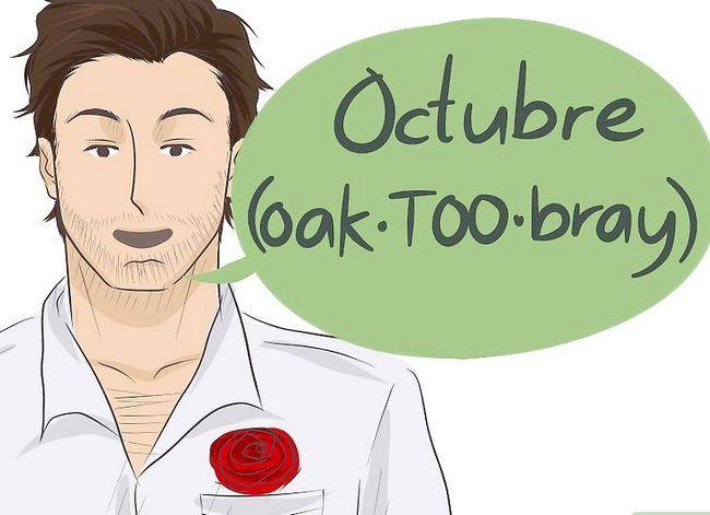 Prent getiteld Sê die kalendermaande in Spaans Stap 10